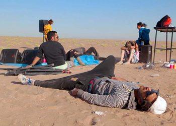 Raveparty woestijn
