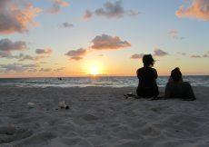winter escape, tulum beach sunrise