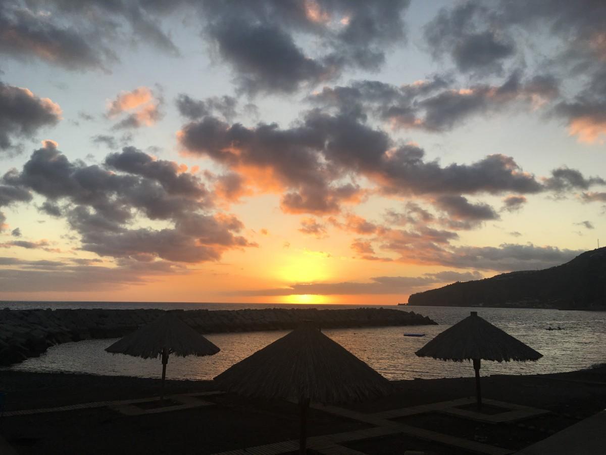 Ribeira Brava zonsondergang